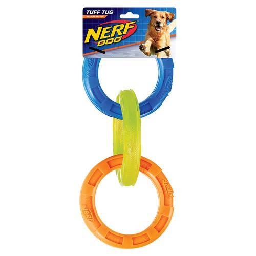 Nerf Dog TPR 3-Ring-Zugspielzeug dreifarbig