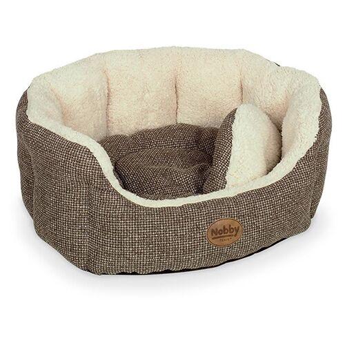 Nobby Katzenbett oval Alba braun, Maße: 45 x 40 x 19 cm