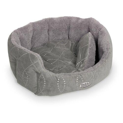 Nobby Katzenbett oval Ceno grau/grau, Maße: 65 x 57 x 22 cm