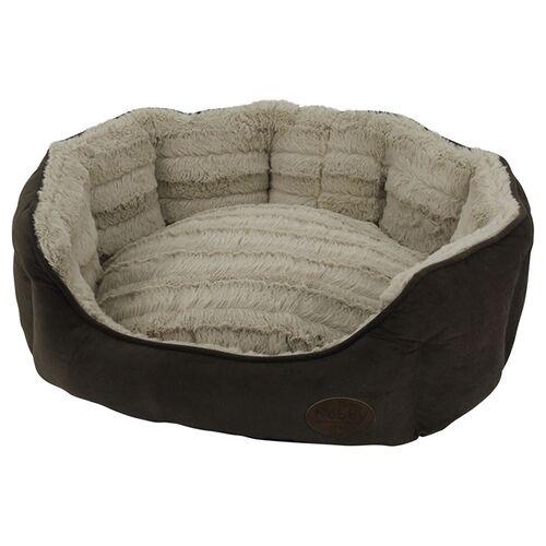 Nobby Katzenbett oval Kara braun, Maße: 45 x 40 x 19 cm