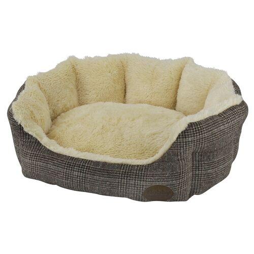 Nobby Katzenbett oval Oti braun, Maße: 55 x 50 x 21 cm
