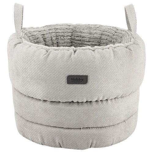 Nobby Komfortkorb rund Lago grau für Katzen