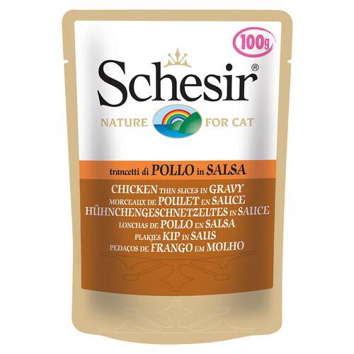 Schesir (12,75 EUR/kg) Schesir Hühnergeschnetzeltes in Sauce 100 g - 20 Stück