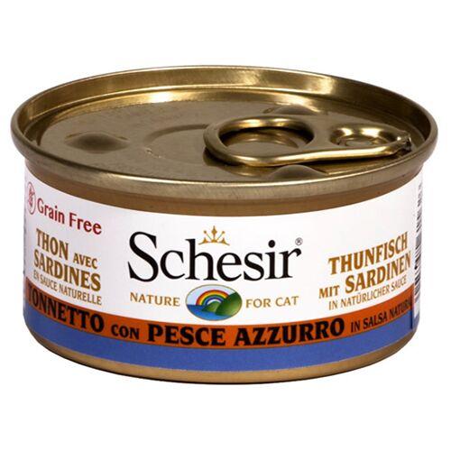 Schesir (19,28 EUR/kg) Schesir Thunfisch & Sardinen in Sauce 70 g - 24 Stück