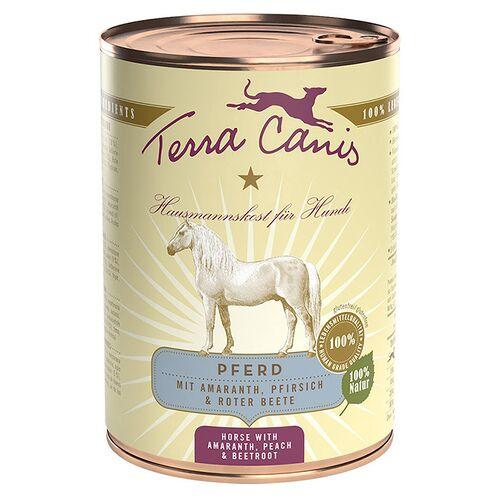 Terra Canis (7,98 EUR/kg) Terra Canis Classic Pferd mit Amaranth, Pfirsich & Roter Beete 400 g - 12 Stück