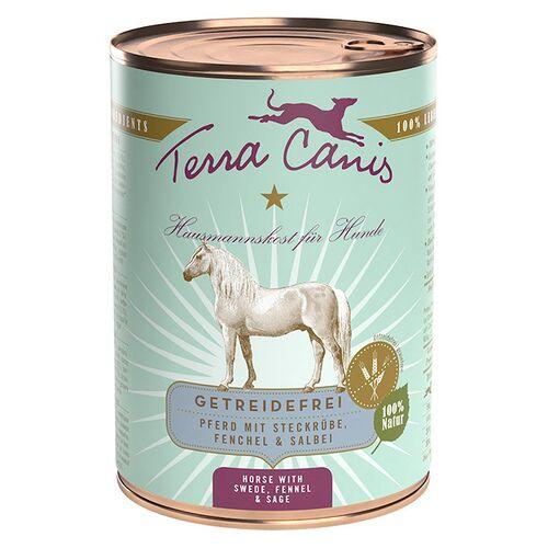 Terra Canis (8,23 EUR/kg) Terra Canis Pferd mit Steckrübe, Fenchel & Salbei / getreidefrei 400 g - 12 Stück