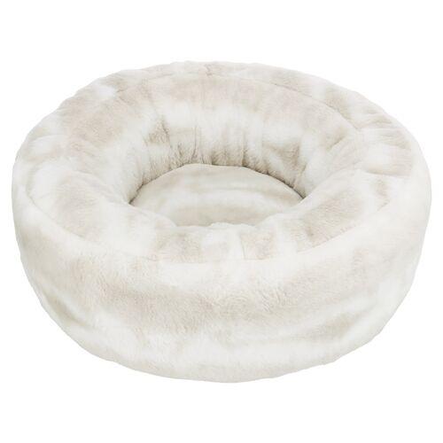 Trixie Bett Nelli weiß-taupe für Katzen, rund, Durchmesser: 60 cm