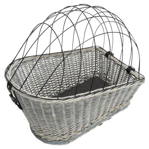 Trixie Hunde-Fahrradkorb für Gepäckträger grau
