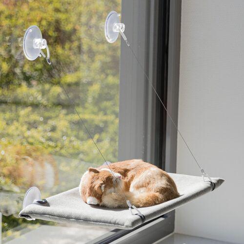 Trixie Liegeplatz für Fensterscheibe grau