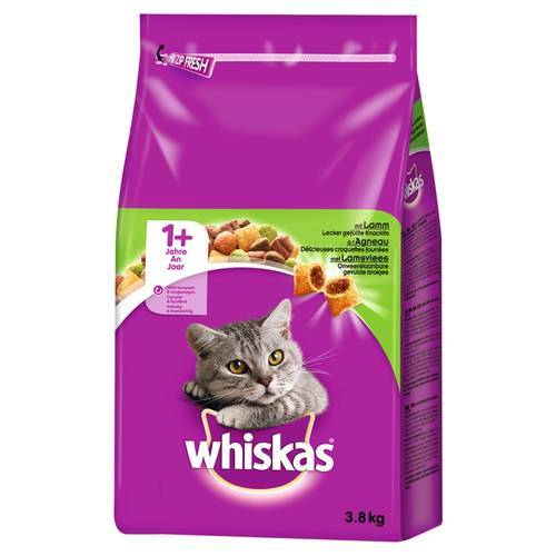 Whiskas (3,16 EUR/kg) Whiskas Adult 1+ mit Lamm 3,8 kg