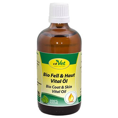 cdVet (24,19 EUR/100ml) cdVet Bio Fell & Haut Vital Öl für Katzen 100 ml