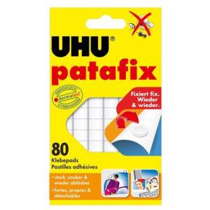 UHU GmbH & Co KG UHU patafix Klebepads, Zum schnellen und sauberen Befestigen und Fixieren, 1 Packung = 80 Pads