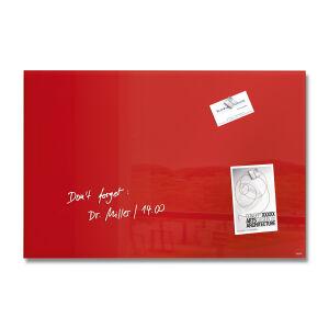 SIGEL GmbH Sigel artverum® Glas-Magnetboard, Magnettafel gefertigt aus Sicherheitsglas, Maße: 60,2 x 40,0 x 1,5 cm, rot