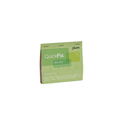 Plum Deutschland GmbH Plum QuickFix® Aloe Vera Refill Wundpflaster, Vorgetränkte Wundauflage mit Aloe Vera, 1 Packung = 45 Pflaster