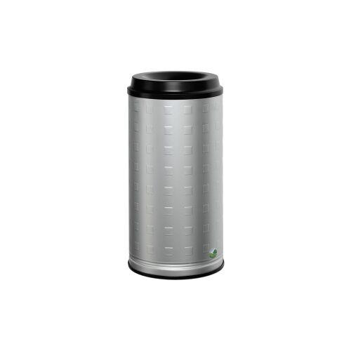 VAR GmbH VAR Papierkorb 20 l Standgerät, Aluminium, eloxiert