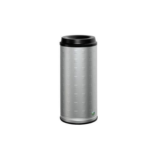 VAR GmbH VAR Papierkorb 20 l Wandgerät, Aluminium, eloxiert