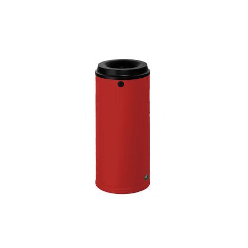 VAR GmbH VAR Papierkorb 15 Liter, Mit Wandhalterung und Schloss, Farbe: rot