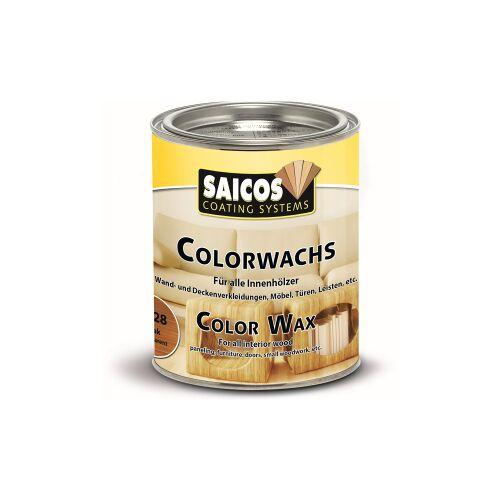 SAICOS COLOUR GmbH SAICOS Colorwachs, Holzwachs, teak, Hochwertige Farbe auf Naturöl-Basis für Holz im Innenbereich, 375 ml - Dose