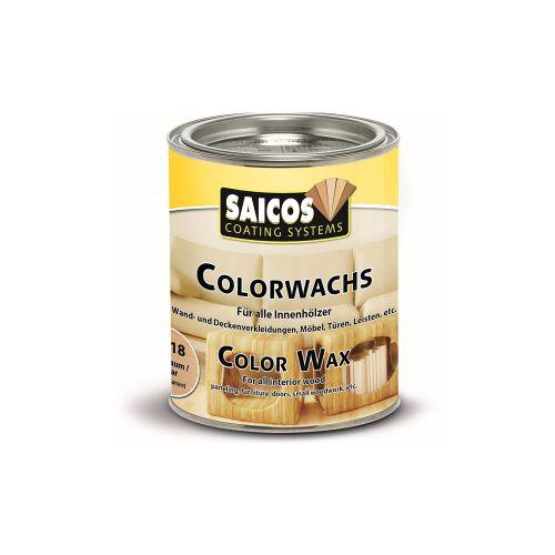 SAICOS COLOUR GmbH SAICOS Colorwachs, Holzwachs, teak, Hochwertige Farbe auf Naturöl-Basis für Holz im Innenbereich, 750 ml - Dose