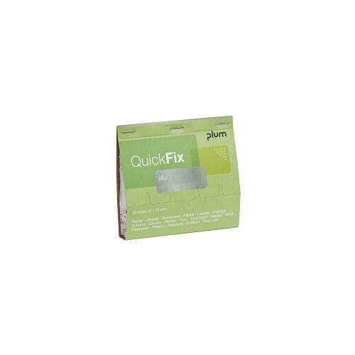 Plum Deutschland GmbH Plum QuickFix® Alu Refill Pflaster, Wundpflaster mit mikronisierter Aluminium-Wundauflage, 1 Packung = 45 Pflaster