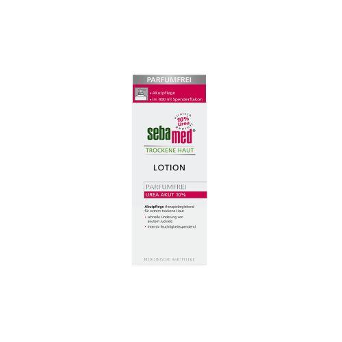 sebamed® Trockene Haut Parfümfrei Lotion UREA AKUT 10%, Akutpflege therapiebegleitend für extrem trockene Haut, 400 ml - Spenderflasche