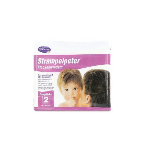 Paul Hartmann AG STRAMPELPETER Flockenwindeln, Windeln für Babys, Saugstärke 2, 697 ml, 1 Packung = 56 Windeln