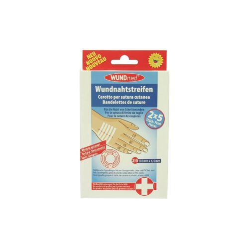 WUNDmed GmbH & Co. KG WUNDmed® Wundversorgung Wundnahtstreifen, steril, Hyperallergene Nahtstreifen für Schnittwunden, 1 Packung = 10 Stück, 102 x 6,4 mm