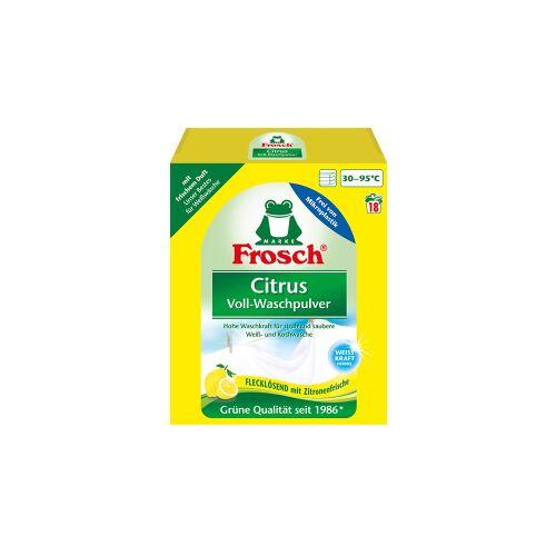 Rex Frosch Citrus Voll-Waschpulver, Pulverförmiges Waschmittel wäscht fasertief rein mit Aktiv Sauerstoff, 1,35 kg - Packung, für ca. 20 Waschladungen