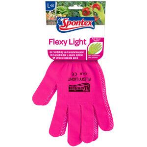 Mapa GmbH Spontex Flexy Light Handschuhe , leichter und flexible Damenhandschuh für Garten- und Hobbyarbeiten, 1 Paar, Größe 8-8,5, farbig sortiert