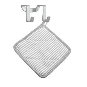Metaltex Deutschland GmbH Metaltex Galileo Doppelhaken, 6 x 4 x 4 cm, Rostbeständiger Türhaken mit Polytherm®-Beschichtung, 1 Stück