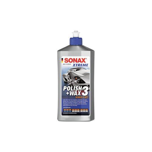 Sonax GmbH SONAX Lack-Politur XTREME Polish + Wax 3 Hybrid NPT, Kraftvolle Politur für vermattete, verwitterte und ungepflegte Lacke, 500 ml - Flasche