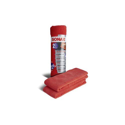 Sonax GmbH SONAX Microfasertuch Außen - der Lackpflegeprofi, Ideal zum Entfernen von Polierrückständen, 1 Packung = 2 Tücher - 40 x 40 cm
