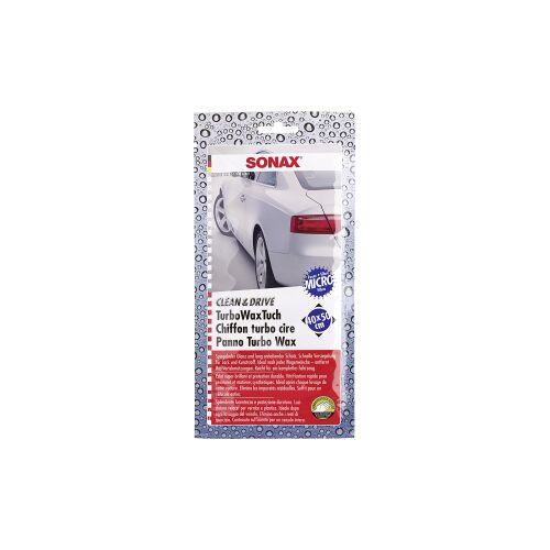 Sonax GmbH SONAX Clean&Drive TurboWaxTuch Microfasertuch, Hochwertiges Microfasertuch, 1 Packung = 1 Tuch (44 x 45 cm)