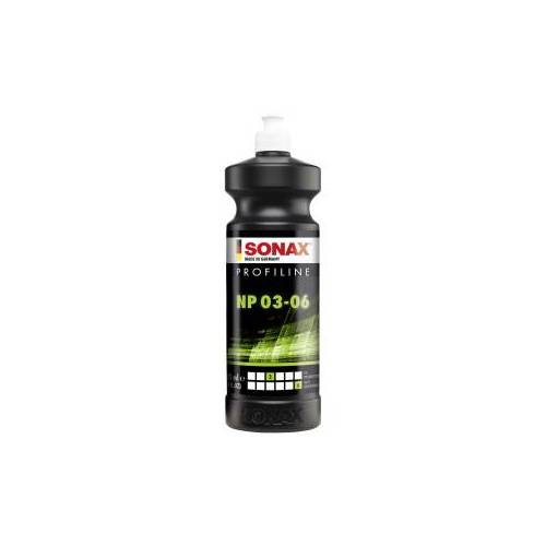 Sonax GmbH SONAX PROFILINE NP 03-06 Politur, Silikonfreie Politur zum professionellen Polieren von verkratzten Lacken, 1000 ml - Flasche
