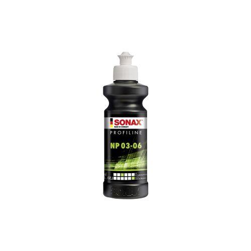 Sonax GmbH SONAX PROFILINE NP 03-06 Politur, Silikonfreie Politur zum professionellen Polieren von verkratzten Lacken, 250 ml - Flasche