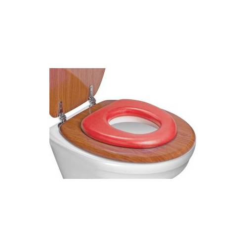 reer GmbH reer WC-Kindersitz, soft, Toilettensitz-Verkleinerer passt auf jede Toilette, Farbe: rot