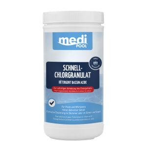 mediPOOL GmbH mediPOOL Schnell-Chlorgranulat, Granulat zur sofortigen Anhebung des Chlorgehalts, 1000 g - Dose