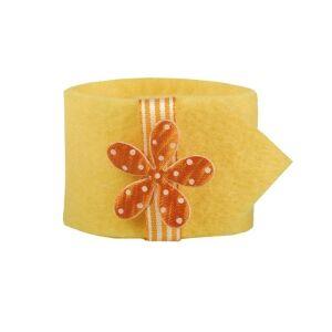 PAPSTAR  GmbH Papstar Flower Serviettenringe, Farbe: gelb, 1 Set = 4 Ringe