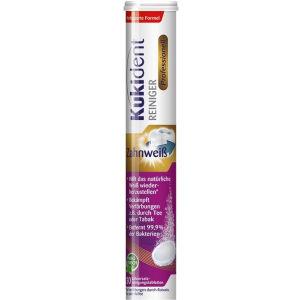 Reckitt Benckiser Deutschland GmbH Kukident Professionelle Reinigungstabletten Zahnweiß, Hilft, das natürliche Weiß wiederherzustellen, 1 Röhrchen = 30 Tabletten