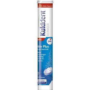 Reckitt Benckiser Deutschland GmbH Kukident Aktiv Plus Reinigungstabletten, Tiefenreinigung mit Aktiv-Sauerstoff, Entfernt 99,9% der Bakterien, 1 Röhrchen = 33 Tabletten
