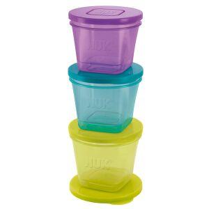 NUK Fresh Foods Frischebehälter, stapelbare Essensbehälter   , 1 Packung = 6 Behälter (2 x 65 ml, 2 x 75 ml, 2 x 85 ml)