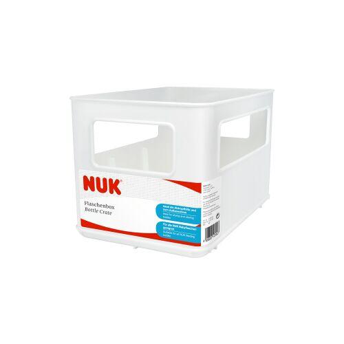 NUK Flaschenbox, Babyflaschenbox zur Aufbewahrung von 6 Fläschchen, 1 Stück, Farbe: weiß