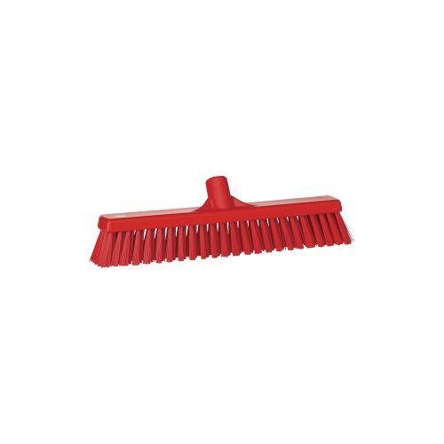 Vikan GmbH Vikan Besen, 410 mm, weich/hart, für fast alle Schmutzarten geeignet, Farbe: rot