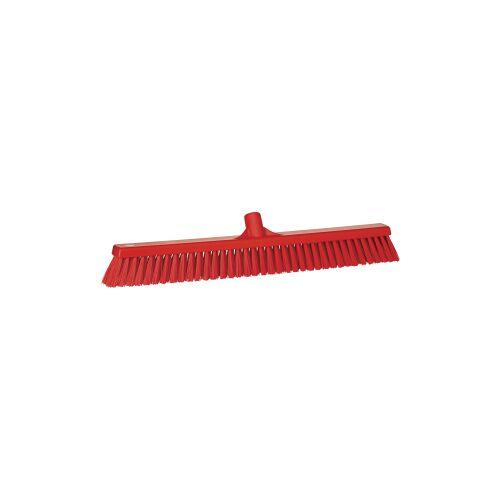 Vikan GmbH Vikan Besen, 610 mm, weich/hart, für fast alle Schmutzarten geeignet, Farbe: rot