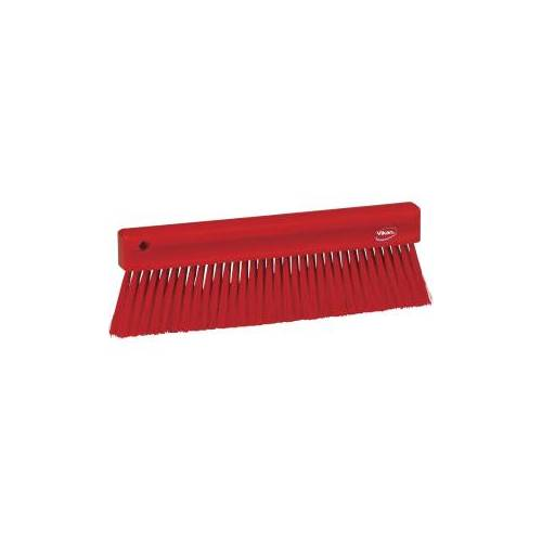 Vikan GmbH Vikan Mehlbesen, weich, 300 mm, Spezialbesen zur Entfernung feinster Partikel, Farbe: rot