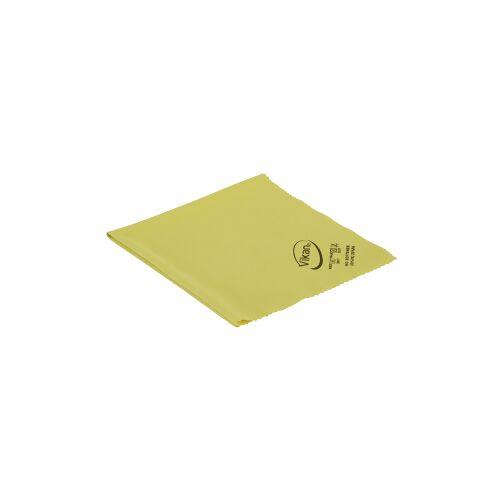 Vikan GmbH Vikan Mikrofaser Poliertuch, 40 x 40 cm, reinigt ohne Fusseln zu hinterlassen, Farbe: gelb
