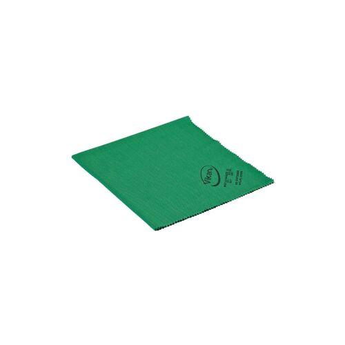 Vikan GmbH Vikan Mikrofaser Poliertuch, 40 x 40 cm, reinigt ohne Fusseln zu hinterlassen, Farbe: grün