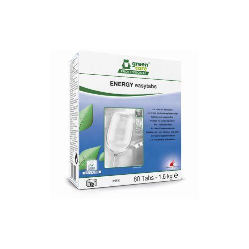 Tana Chemie GmbH TANA green care ENERGY easytabs Geschirrreiniger-Tabs, 4 in 1 Geschirrspülmaschinen-Tabs gegen Ablagerungen und Glanz, 1 Packung = 80 Tabs