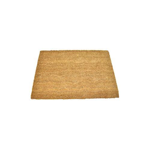 Schmutzfangmatte Kokosvelours uni, Maße: 40 x 60 cm, Material: Kokos / Vinyl