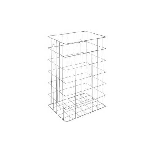 Ernst Wagner GmbH & Co. KG Wagner EWAR Gitterkorb, 72 Liter, Papierkorb für Bodenaufstellung und Wandmontage geeignet, WP 150, verchromte Optik